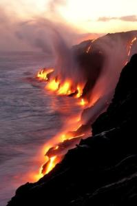 Lava Meets the Sea